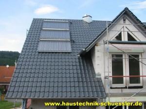 Solaranlage zur Warmwasserbereitung